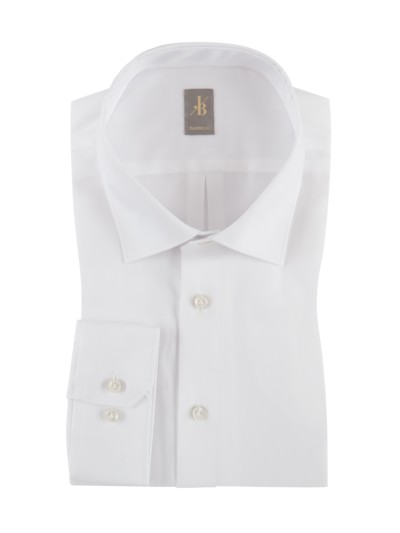 Shirt with Kent collar, extra long v WHITE