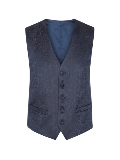 Gala waistcoat with a high-quality pattern v BLUE