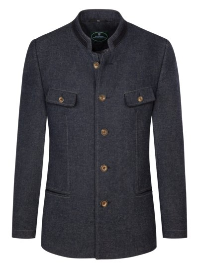 Traditional Trachten jacket in minimal texture, Steyr v BLUE