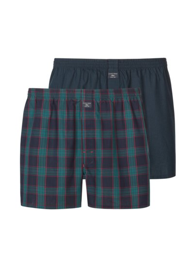 Patterned boxer shorts in a double pack v GREEN