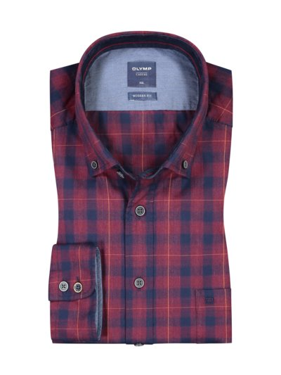 Casual Olymp modern fit, check shirt v RED