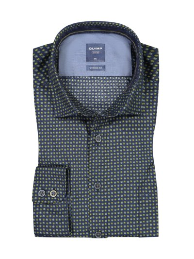 Casual modern fit, shirt with practical breast pocket v MARINE