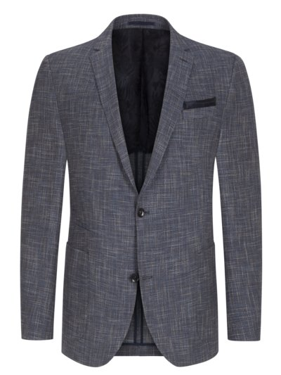 Smart-casual jacket with micro texture, Timon v BLUE