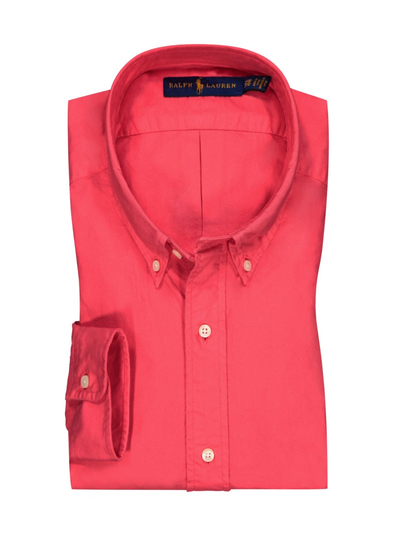 Polo Ralph Lauren Shirt in Oxford texture RED in plus size