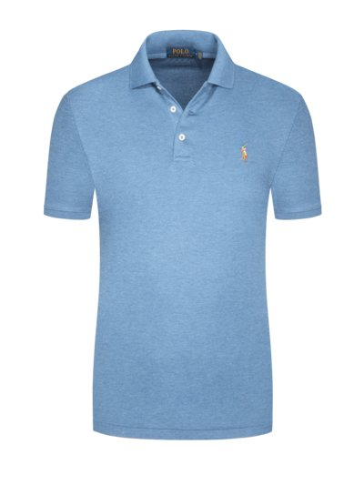 Poloshirt mit Poloreiter-Stickerei in MARINE