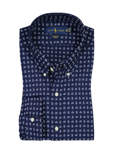 Casual shirt with paisley pattern v MARINE