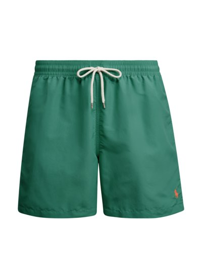 Swimming shorts with embroidered polo rider v GREEN