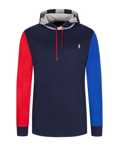 Sweatshirt with contrasting sleeves v MARINE