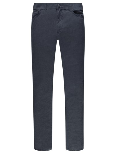 Stylish 5-pocket pants with micro texture, Cooper Fancy v BLUE