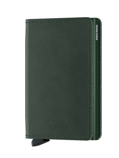 Wallet with card protector v GREEN