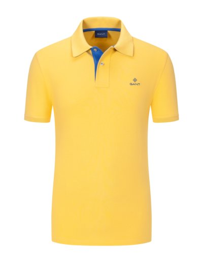 Polo shirt with stretch v YELLOW