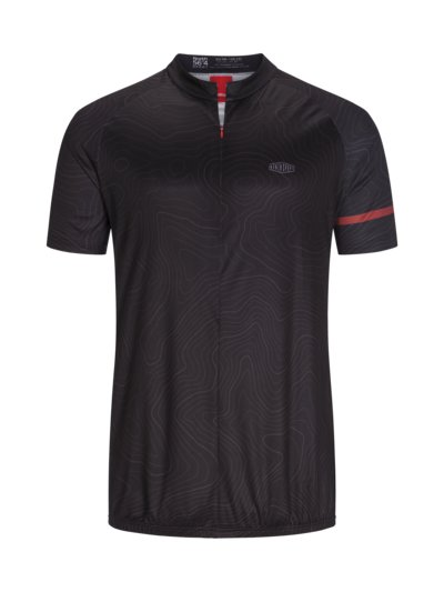 Cycling jersey made of 100% polyester v BLACK
