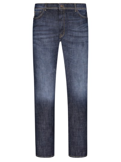 Denim-Jeans mit Stretchanteil, James in BLAU