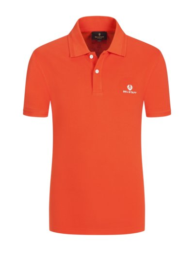 Poloshirt mit Logo-Stickerei in ORANGE