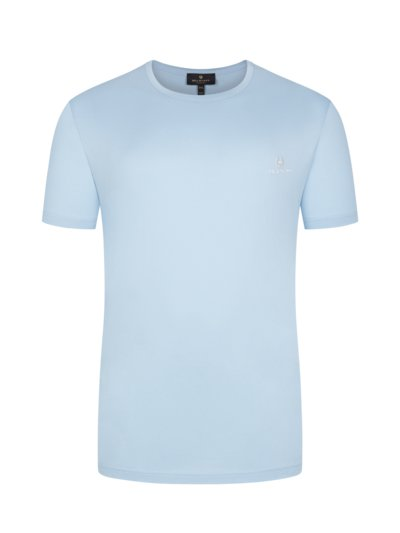 T-Shirt, O-Neck in HELLBLAU