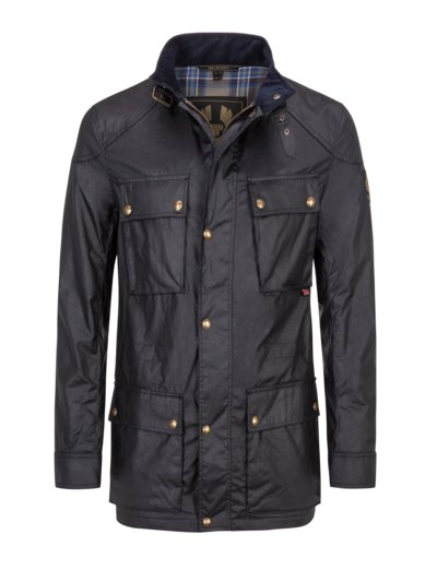 Fieldjacket mit gewachster Baumwolle, Fieldmaster in NAVY