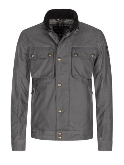 Stylish biker jacket, Racemaster v GREY