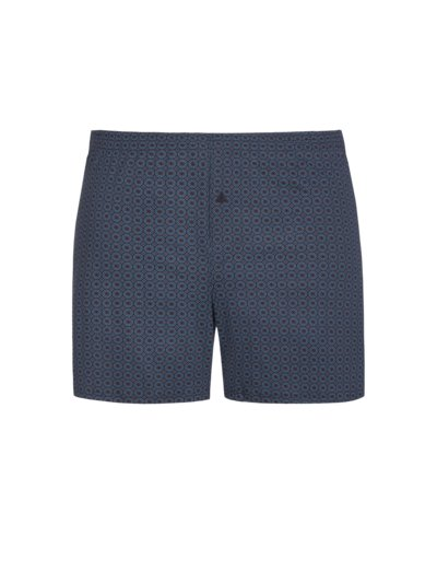 Boxer shorts with micro pattern v BLUE