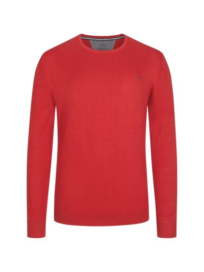 Sweater made of pure cotton v RED