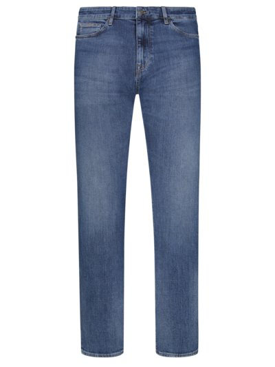 Five-pocket jeans with stretch content v BLUE