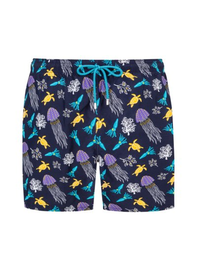 Badehose, Allover-Print in MARINE