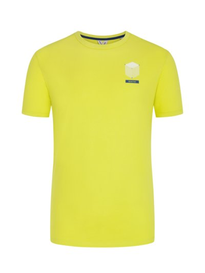T-shirt with back print v YELLOW