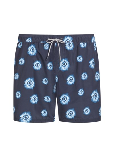 Swimming trunks with batik pattern v MARINE
