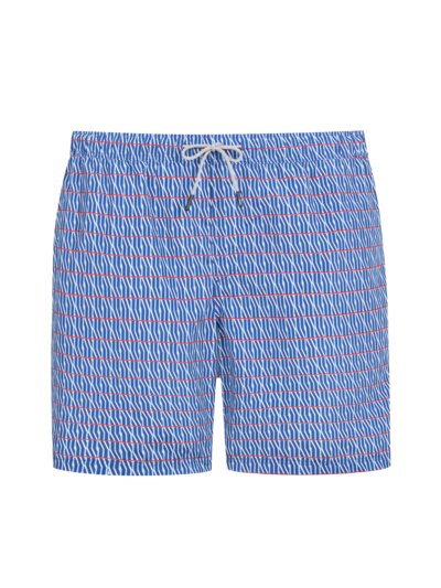 Swimming shorts with a striped pattern v ROYAL
