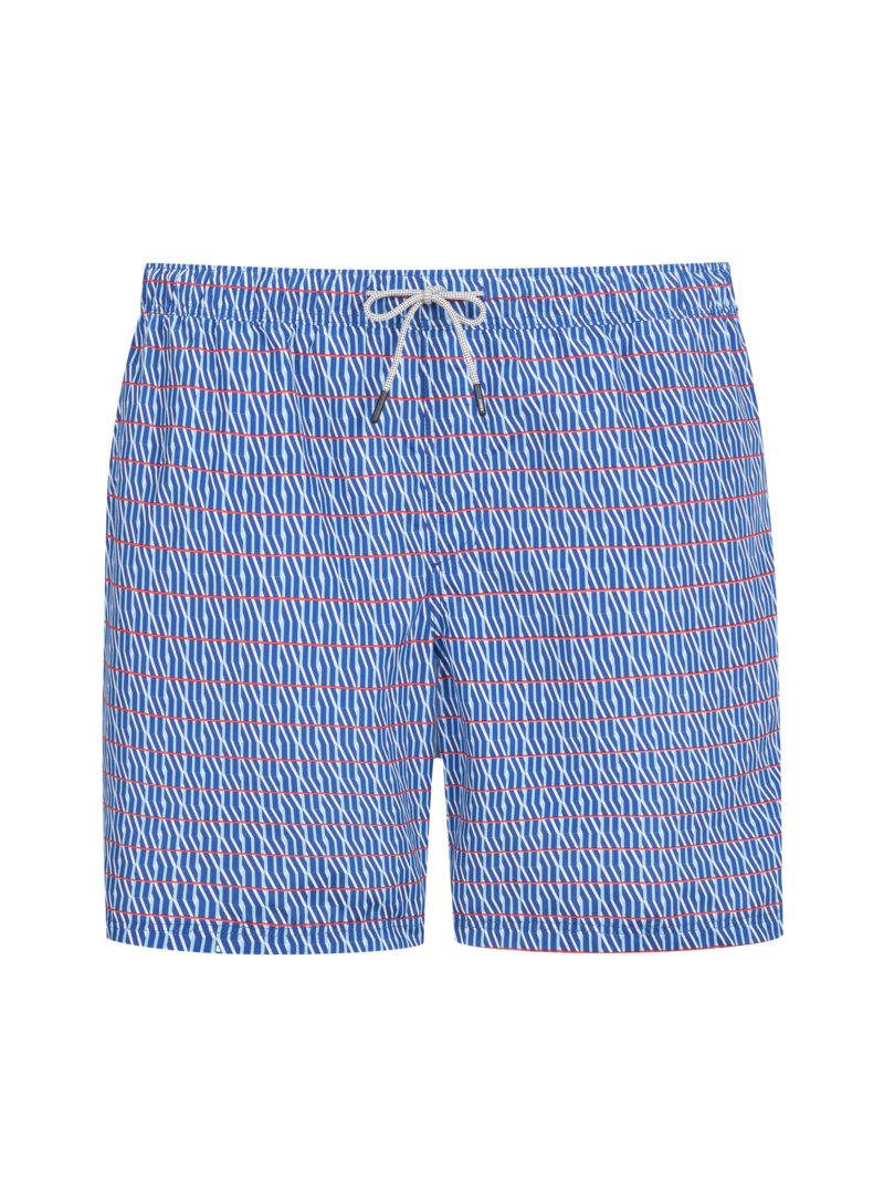 Jack & Jones Swimming shorts with a striped pattern ROYAL in plus size