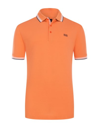 Polo shirt with contrast collar, B-Paddy v ORANGE