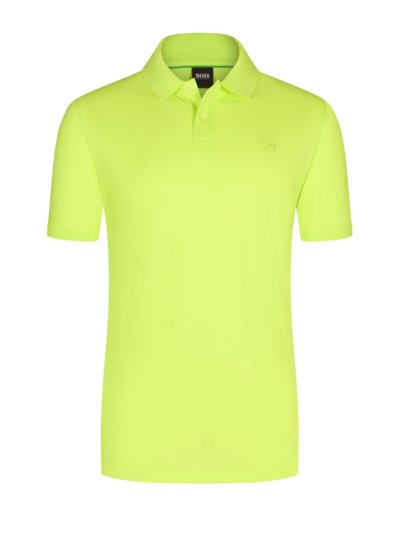 Pure cotton polo shirt v YELLOW