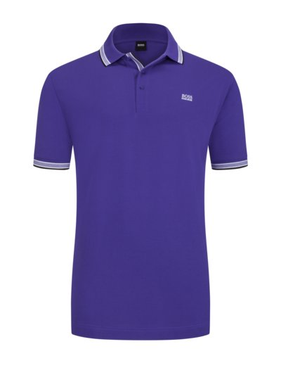 Polo shirt with contrast collar, B-Paddy v LAVENDER
