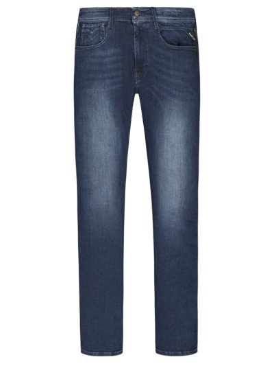Five-pocket jeans with stretch aspect, Anbass v BLUE