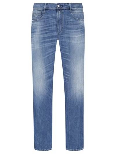 Used denim jeans with stretch, Anbass v BLUE