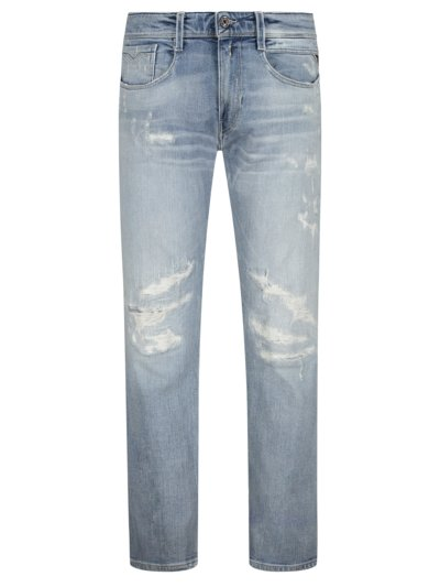 Jeans in a destroyed look v BLUE