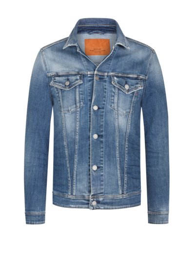 Jean jacket with stretch fabric v BLUE