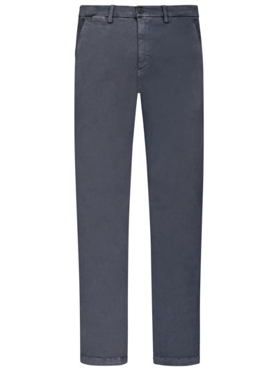 Cotton blend chinos, Hyperflex v BLUE