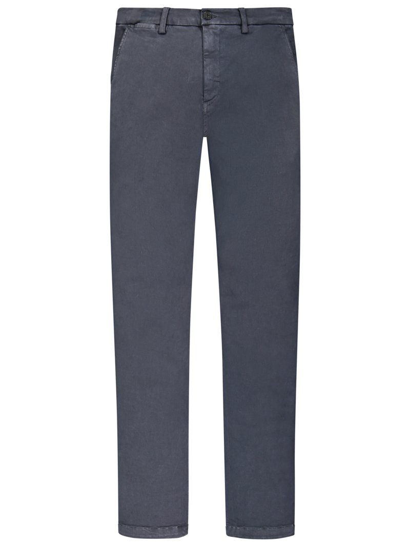 Replay Hyperflex-Chino in Stretch-Denim OLIV in Übergröße