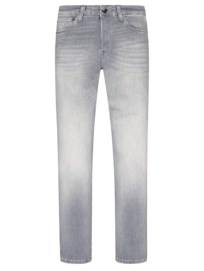 Washed Jeans mit Stretchanteil, Glenn in GRAU