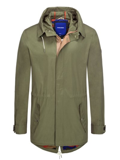 Stylish parka with hood v OLIVE-