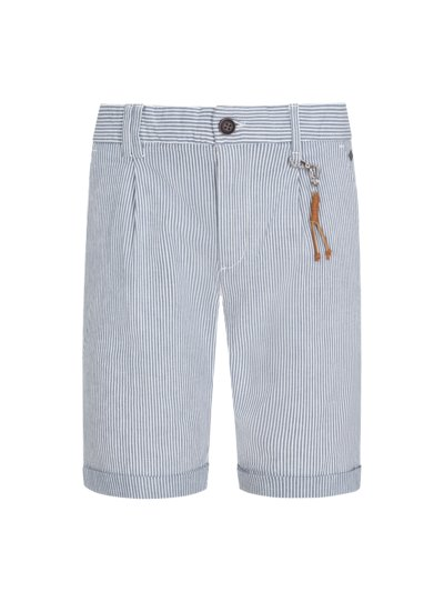 Bermuda shorts with striped pattern v BLUE