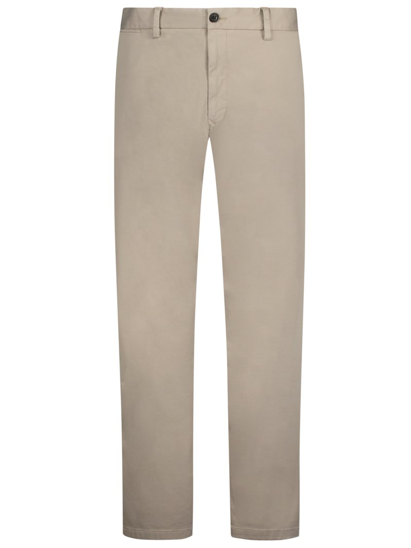 Tommy Hilfiger Cotton chinos with stretch, Madison Stretch OLIVE- in plus size
