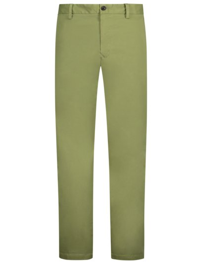 Cotton chinos with stretch, Madison Stretch v OLIVE-