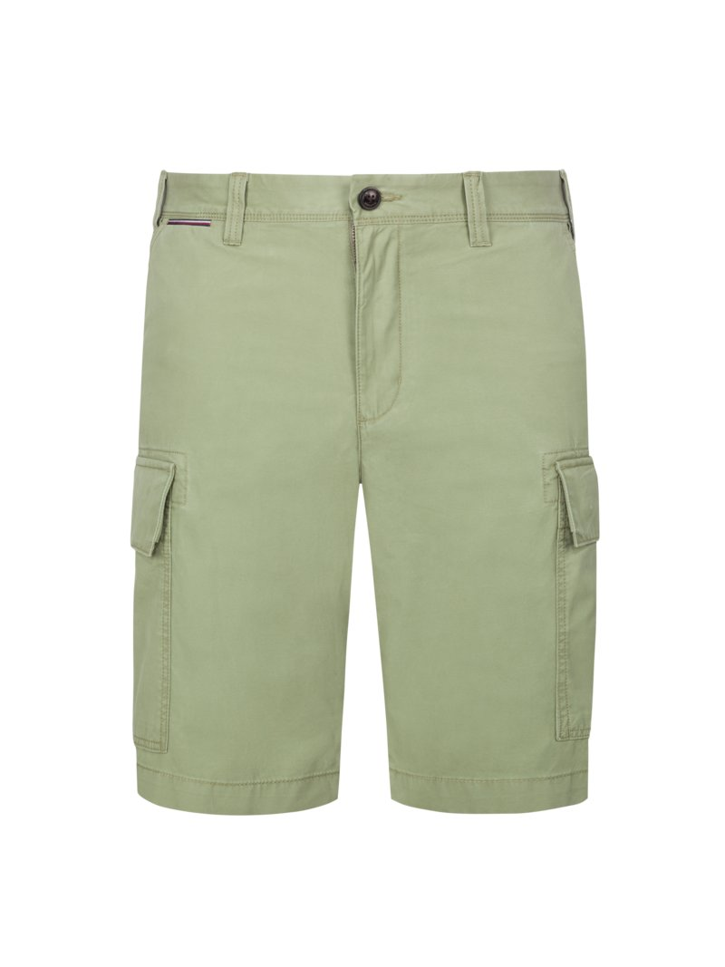 Tommy Hilfiger Shorts with cargo pockets OLIVE- in plus size