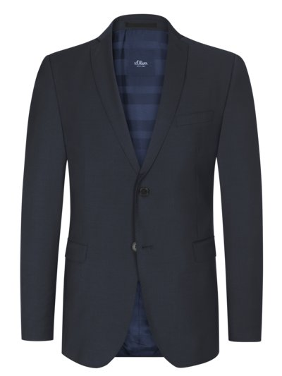 Suit separates blazer in a wool blend v MARINE