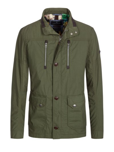 Casual jacket in field jacket look v OLIVE-
