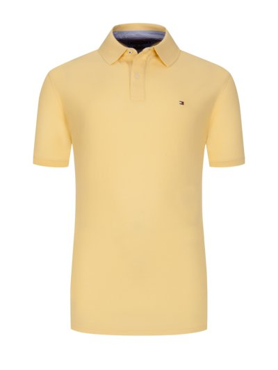 100% cotton polo shirt v YELLOW