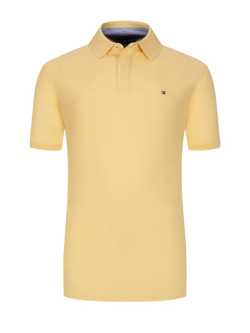 Tommy Hilfiger 100% cotton polo shirt YELLOW in plus size