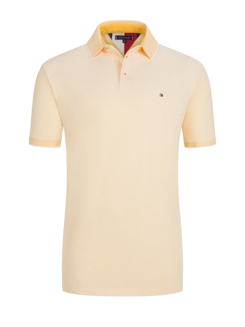 Tommy Hilfiger Polo shirt with a stylish texture YELLOW in plus size