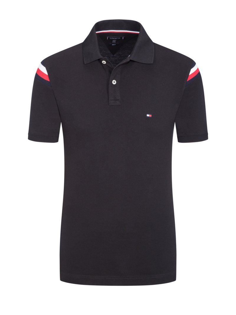 Tommy Hilfiger Polo shirt BLACK in plus size